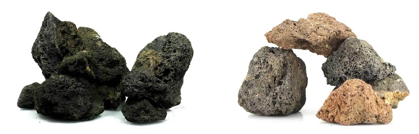 Укрытие-пещера из кусков лавы